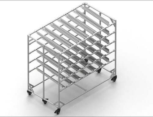 Mobile Lean Production Supply Rack