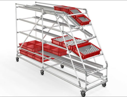 Material provisioning rack on castors