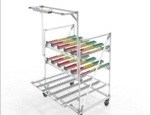 Mobile D30 Kanban FIFO rack