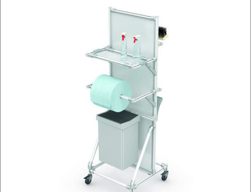 Lightweight and compact cleaning trolley with 5S features