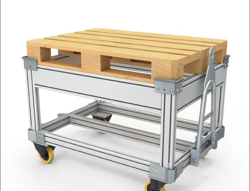 Transport trolley for euro-pallets